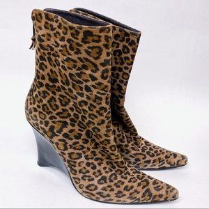 Stuart Weitzman Leopard Print Wedge Boot